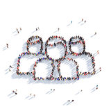 Люди 3d группы формы Бесплатная Иллюстрация