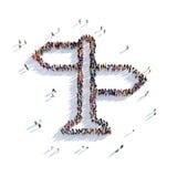 Люди 3d дорожного знака Иллюстрация вектора