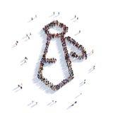 Люди 3d связи Бесплатная Иллюстрация