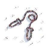Люди 3d спорта веревочки Стоковое Изображение RF