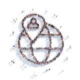 Люди 3d указателя карты глобуса Стоковое Изображение