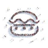 Люди 3d фаст-фуда гамбургера Бесплатная Иллюстрация