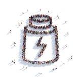 Люди 3d энергии трубки Иллюстрация вектора