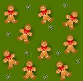 люди gingerbread tileable Стоковая Фотография