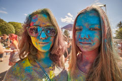 Люди Holi Стоковая Фотография