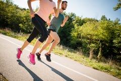 Люди jogging совместно Стоковое Фото