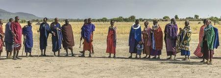 Люди Maasai стоковая фотография