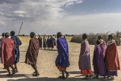 Люди Maasai стоковое фото rf