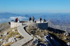 Люди na górze горы Lovcen Стоковое фото RF