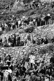 Люди Peruvian Ollantayambo Стоковые Фотографии RF