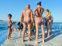 Люди snorkeling Стоковые Фото