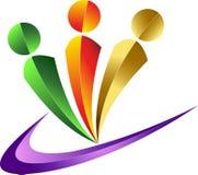 людской логос Стоковые Изображения RF