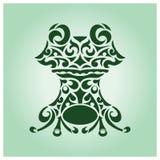 Лягушка вектора племенная Стоковые Фотографии RF