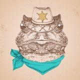 Лягушка животного битника Намордник чертежа руки лягушки Стоковое Изображение RF