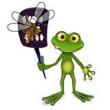 Лягушка и москит Стоковые Изображения RF
