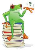 лягушка книги иллюстрация вектора