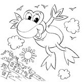 лягушка летания Стоковая Фотография RF
