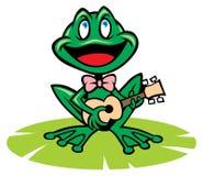 Лягушка петь Стоковое Изображение RF