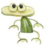 Лягушка сделанная из огурца Стоковые Изображения