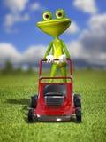 Лягушка с прифронтовой косилкой Стоковая Фотография