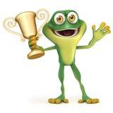 Лягушка с трофеем иллюстрация штока