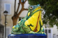Лягушка фонтана Стоковые Изображения RF