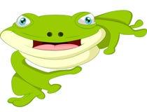 Лягушка шаржа милая Стоковые Фотографии RF