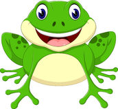 Лягушка шаржа милая иллюстрация штока