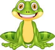 Лягушка шаржа счастливая иллюстрация штока