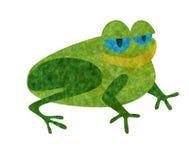 лягушка applique Стоковые Фото
