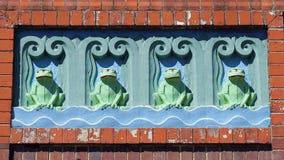 Лягушки стиля Арт Деко зеленые Стоковая Фотография RF