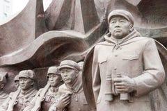 ЛЯОНИН, КИТАЙ - 28-ое июля 2015: Армия s китайских людей добровольная стоковые изображения