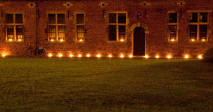 Лёвен с свечами Стоковые Изображения RF