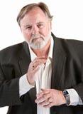 лёгкий gesturing человек Стоковая Фотография RF