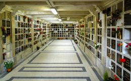Мавзолеи колумбария кладбища Pere Lachaise Стоковое Фото