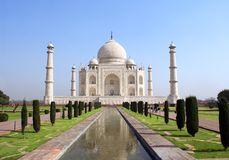 Мавзолей Тадж-Махала, Агра, Индия Стоковое Изображение RF