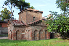 Мавзолей Galla Placidia, Ravenna, Италии Стоковая Фотография RF