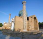 мавзолей gur amir e tamerlan стоковые изображения rf