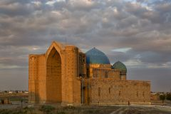 Мавзолей Khoja Ahmed Yasawi, Туркестана, Казахстана Стоковое Фото