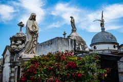 Мавзолеи кладбища Recoleta Стоковое фото RF