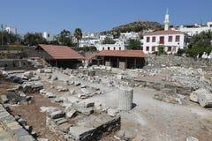 Мавзолей на Halicarnassus в Bodrum, Турции стоковая фотография