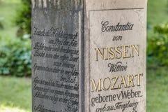 Мавзолей семьи Mozart на Зальцбурге, Австрии Стоковая Фотография
