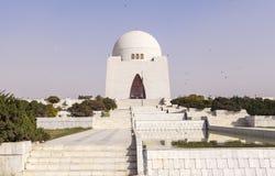 Мавзолей Jinnah в Карачи, Пакистане Стоковое Изображение