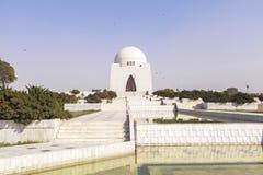 Мавзолей Jinnah в Карачи, Пакистане Стоковые Изображения