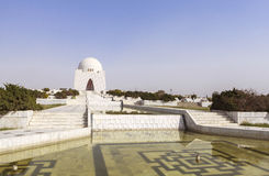 Мавзолей Jinnah в Карачи, Пакистане Стоковое Фото