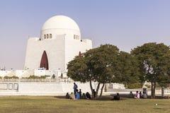 Мавзолей Jinnah в Карачи, Пакистане Стоковое фото RF