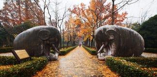 Мавзолей Ming Xiaoling Нанкина стоковая фотография rf