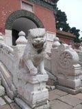 Мавзолей Zhaoling львов Династи-камня Qing стоковое изображение