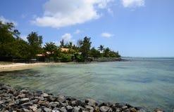 Маврикий, живописная деревня конематки красавицы Стоковое Изображение RF