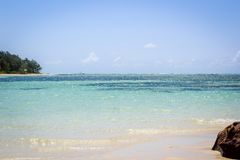 Маврикий, красивые пляжи, весьма спорт, и идеальные небеса стоковая фотография rf